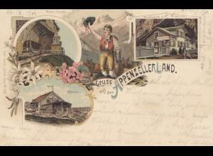 Schweiz: 1901: Ansichtskarte Appenzeller Land