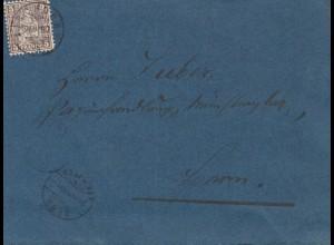 Schweiz: 1880: Brief nach Thun