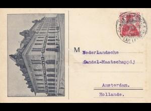 Schweiz: 1913: Postkarte nach Amsterdam