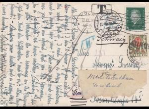 Schweiz: 1928: Karte von Genf nach Köln