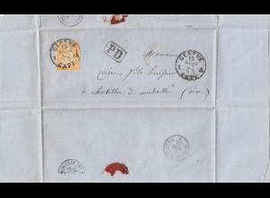 Schweiz: 1858: Genf nach Chattion de Michaille