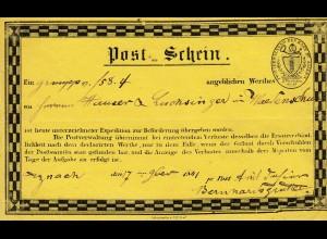 Schweiz: 1841: Post-Schein St. Gallen