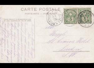 Schweiz: Portopflichtige Feldpostkarte mit Kanonen, ca. 1914