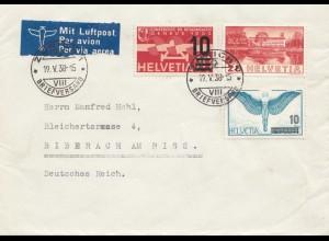 Schweiz: Kempten/Zürich nach Weingarten 1938
