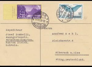 Schweiz: 1938: Kempten/Zürich nach Weingarten