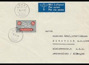 Schweiz: 1938: Lonay nach Biberach