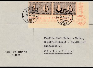 Schweiz: 1943: Cham nach Wintertur, Blockteil
