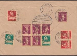 Schweiz: 1928: Einschreiben Luzern nach München