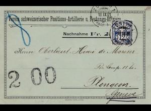 Schweiz: 1901: Zürich nach Genf, Nachnahme