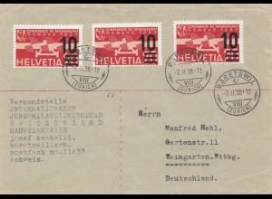 Schweiz: 1938: Bäretswil nach Weingarten