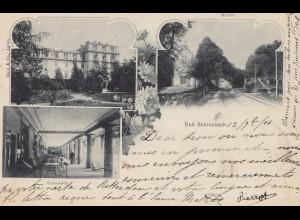 Schweiz: 1906: Ansichtskarte Bad Schinzach