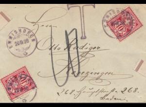 Schweiz: 1898: Emmishofen nach Kenzlingen