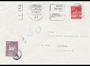 Schweiz: 1966: Brief von Duisburg nach Dietikon