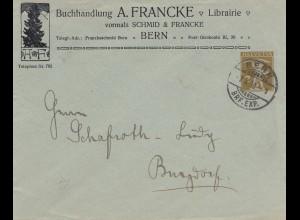 Schweiz: 1910: Buchhandlung Bern nach Burgdorf