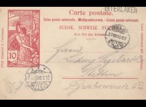 Schweiz: 1900: Interlaken nach Stettin