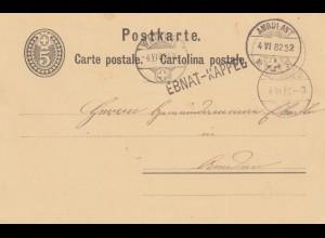 Schweiz: 1882: Ambulant Ebnat-Kappel nach Watwil