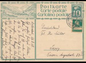 Schweiz: 1928: Moderatsch nach Leipzig