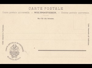 Schweiz: 1903: Ansichtskarte Liberte et Patrie, Canton de Vaud