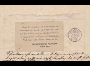 Schweiz: 1988: Bern nach Walliswyl , Einzugsmandat