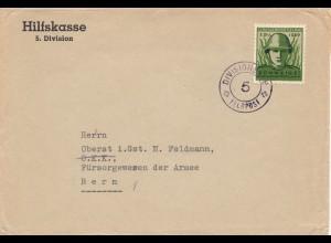 Schweiz: 1939 Division Feldpost nach Bern