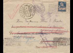 Schweiz: 1925: Luzern nach Mexico und zurück