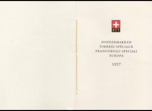 Schweiz: 1957: Sondermarken Europa