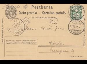 Schweiz: 1907: Richterswil nach München