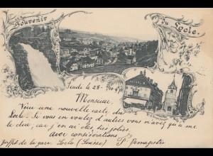 Schweiz: 1891: Ansichtskarte Locle