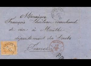 Schweiz: 1871: Le Sentier nach Frankreich