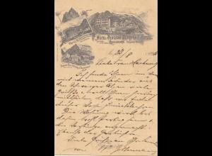Schweiz: 1896: Ansichtskarte Eggishorn