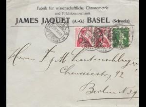 Schweiz: 1910: Basel nach Berlin