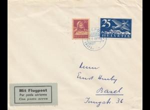 Schweiz: 1924: Flugpost Laufen nach Basel