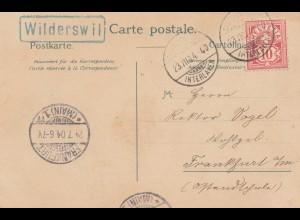 Schweiz: 1904: Ansichtskarte Widerswil nach Frankfurt