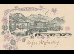 Schweiz: Ansichtskarte Grand Hotel Hof Ragatz
