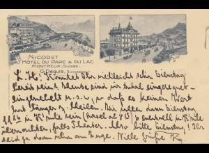 Schweiz: 1906: Ansichtskarte Montreux nach Speyer