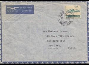 Schweiz: 1946: Flugpost Zürich nach USA