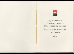 Schweiz: 1957: Sondermarken Organisation Mondiale de la Sante