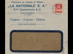 Schweiz: 1927: Chiasso, Tabak, Zigaretten