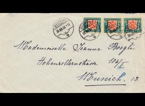 Schweiz: 1928: Avenches nach Zürich