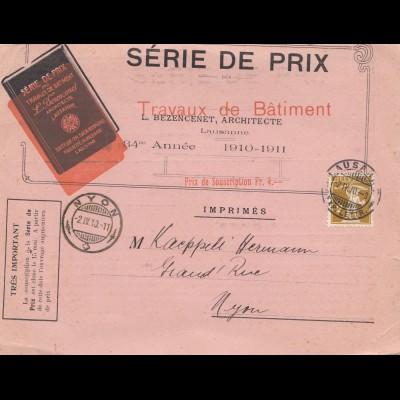 Schweiz: 1910: Lausanne nach Nyon