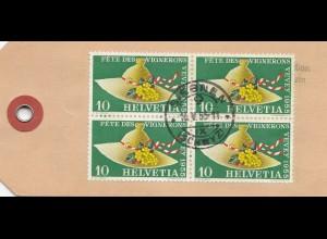 Schweiz: 1955: Paketanhänger Siebnen