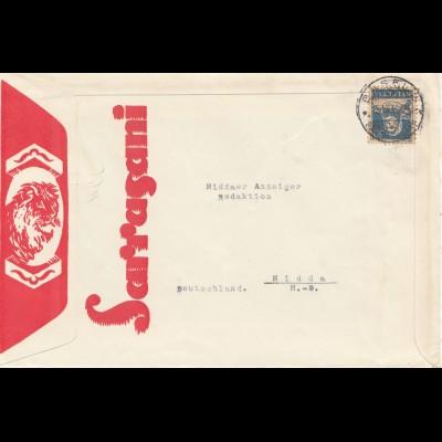 Schweiz: 1930: Sarasani Girls von Basel nach Nidda