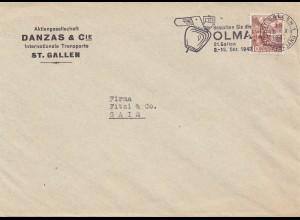 Schweiz: 1947: St. Gallen nach Gais , Perfin