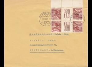 Schweiz: 1949: Herrliberg nach Stuttgart