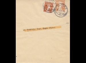 Schweiz: 1921: Streifband Polten nach Engen