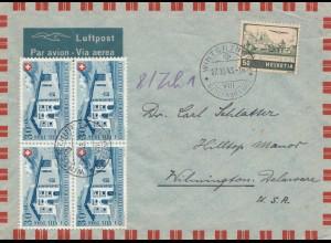 Schweiz: 1946: Winterthur nach USA