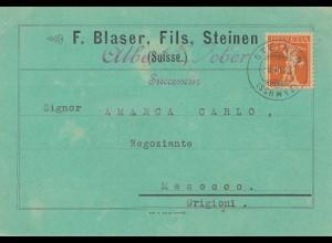 Schweiz: 1923: Steinen nach Mesocco