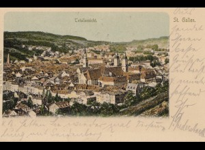 Schweiz: 1902: Ansichtskarte St. Gallen