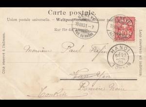 Schweiz: 1901: Genf nach Hanoi