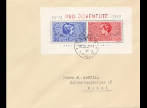 Schweiz: 1937: Pro Juventute Basel, Block 3